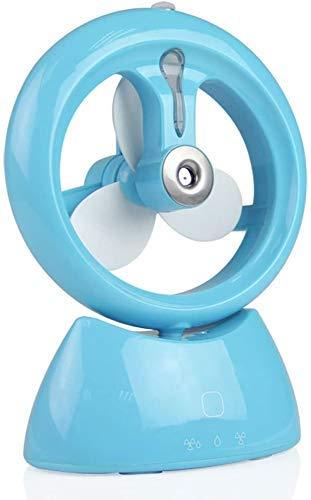 NMBD Elettrodomestici Held Mini tenuto in Mano in Mano Portatile Ricaricabile USB Aria condizionata Desktop Studente Fumetto dormitori Piccoli Ventilatore (Color : Blue)