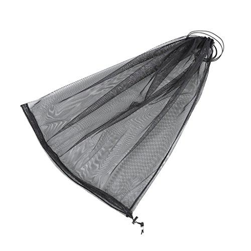 Moskitonetz Moskito Kopfschutz 40 x 55 cm Für Camping Outdoor Angeln - Schwarz