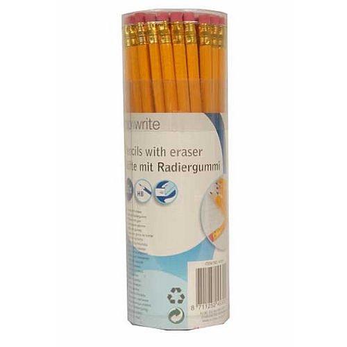 Potlood SET, 50 stuks potloden met gum