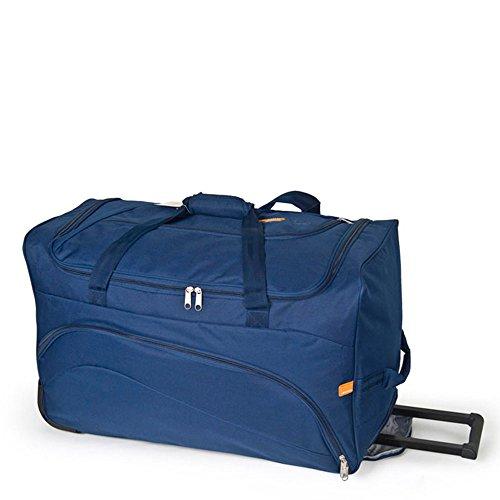 Gabol - Week | Bolso con Ruedas de Viaje Grande de Tela de 66 x 40 x 33 cm con Capacidad para 87 L de Color Azul