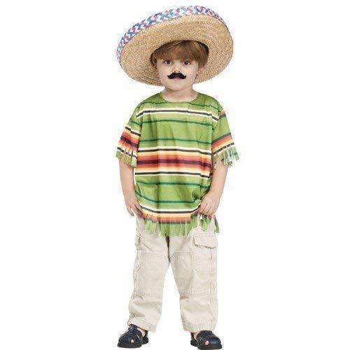 Fancy Me Jungen Mexikanisch Hemd Sombrero und Schnurrbart Kostüm Kleid Outfit 3-4 Years