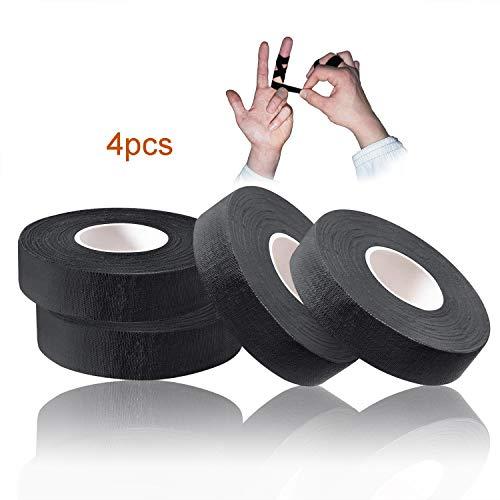Tusenpy 4 Rollen Fingertape, Ideales Klettertape und Sporttape für Bestleistungen und Schutz, 1,5 cm * 13,7 m (Schwarz)