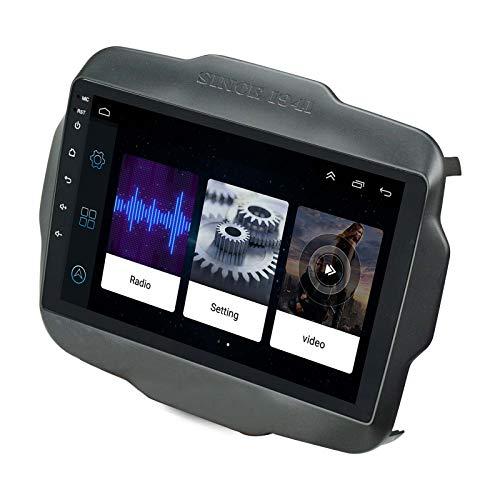 Ezonetronics Android 8.1 Autoradio Stereo per Jeep Renegade 2015-2019 Unità principale da 9 pollici Touch Screen Navigazione GPS Specchio Link WIFI Bluetooth Lettore USB 2G RAM + 16G ROM