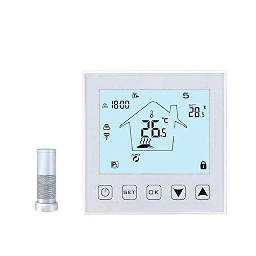 DAETNG Drahtloses Fernthermostat, intelligenter programmierbarer Temperaturregler, Heizungskühlprogramm für Kühler/Lüfter/elektrischen Kamin/Fußbodenheizung