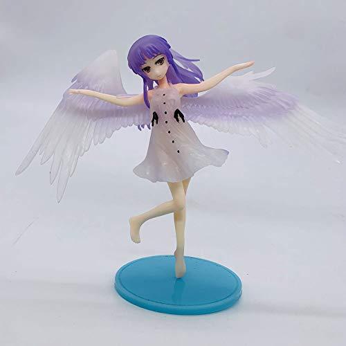 SDFDSSR Muñeca de Anime Angel Beats! Tachibana Kanade Figura de Ropa Transparente versión Estatua muñeca Escultura Juguete decoración Modelo muñeca Altura 16 cm