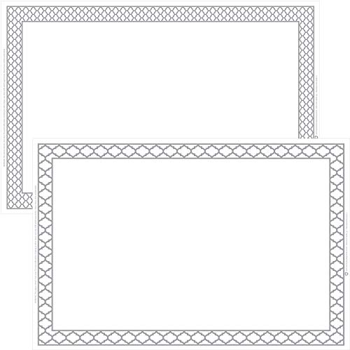 HomeWorthy White Disposable Placemats for Baby, Kids, Toddler, Children, Adults - Neat and Sticky Plastic Placemat Table Topper Solutions for Restaurant, Schools, Crafts, or Travel Mats - 40 Pack