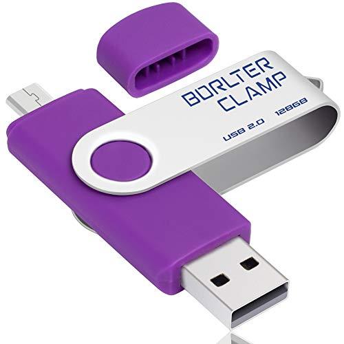 128GB Memoria USB de Doble Puerto, BorlterClamp Unidad Flash USB de Puerto...