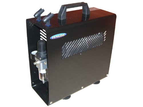 Hobby airbrush compressor met luchttank Fengda® AS-186