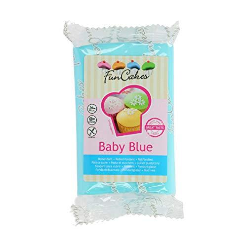 FunCakes Pasta di Zucchero Blu Baby, 250 Grammi