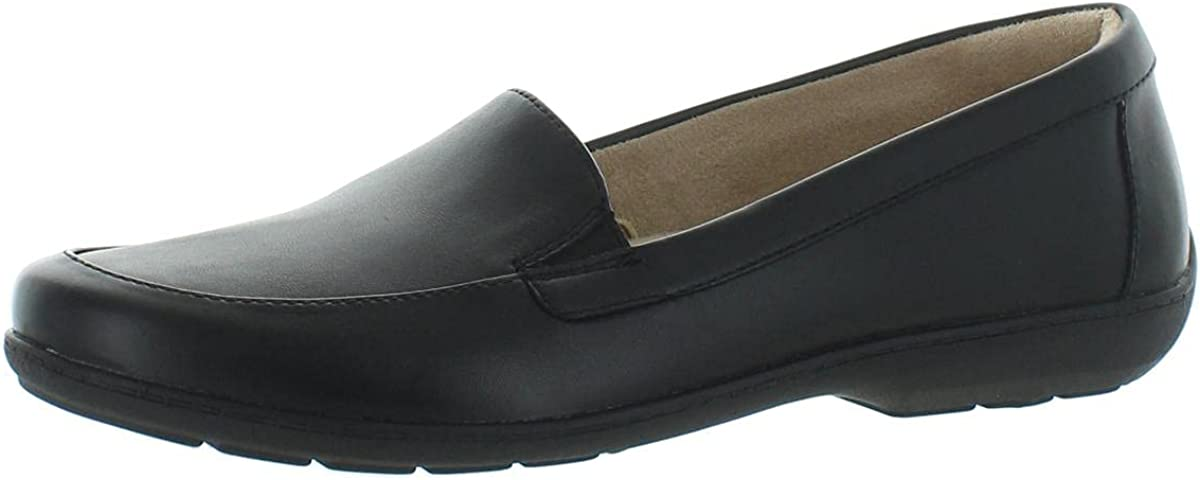 Naturalizer Womens Kimmy Leather Slip On Loafers Black 6.5 Medium (B,M)