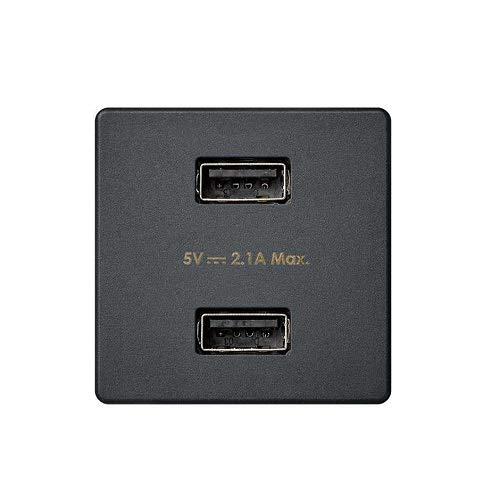 Cargador USB doble tipo A hembra Simon 27 Play negro