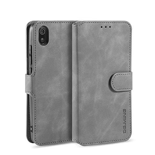 Homi2019 Hülle für Xiaomi Redmi 7A, Leder Flip Handyhülle Schutzhülle Tasche Case mit [Kartenfach] [Standfunktion] [Magnetverschluss]