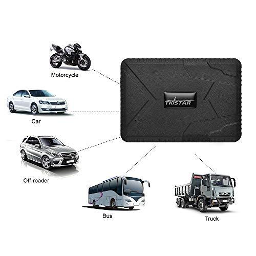 Localizador GPS con rastreador de Winnes y rastreador GPS con batería de 10000 mAh, Tiempo de Espera Largo y con Fuerte magnético, rastreador de localización para Coche, camión contenedor