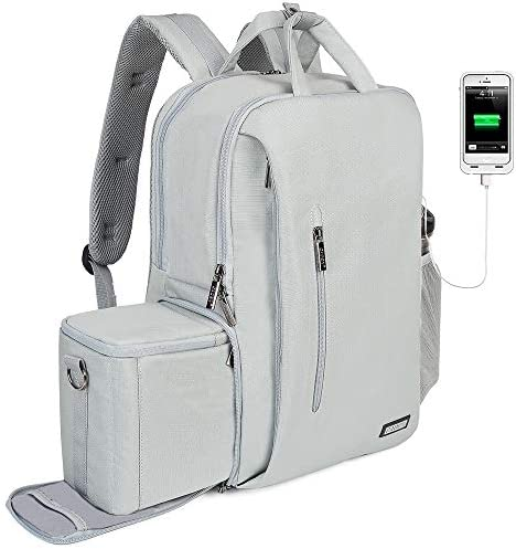 CADeN DSLR Camera Backpack Bag Waterproof Anti Theft with 15 6 inch Laptop Compartment USB Charging product image
