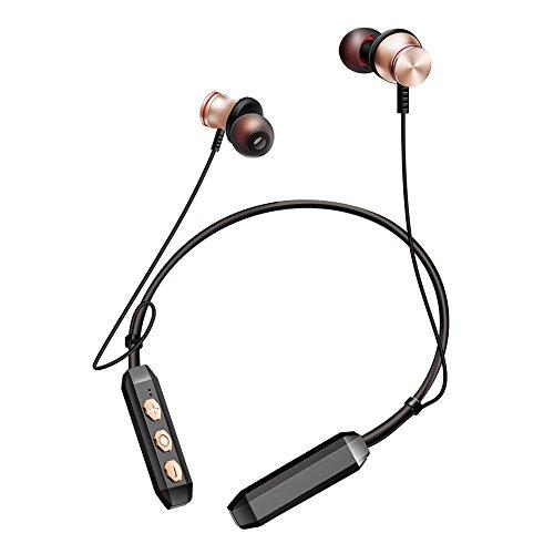 Kopfhörer Headset Ohrhörer bluetooth Bluetooth-Kopfhörer Drahtlose Sportkopfhörer Nackenbügel-Headset mit Mikrofon (Gold)