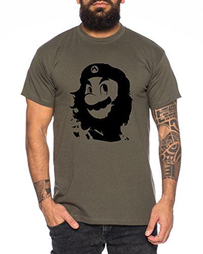 Che Mario Herren T-Shirt Gamer Play Sport Station Controller ps Game, Farbe:Khaki;Größe:XXL