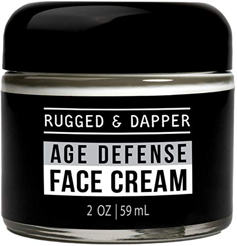 RUGGED & DAPPER Age Defense Face Cream for Men | Fast Action Ultra-Hydrating Day & Night Lotion for Men | Non-Toxic Skincare