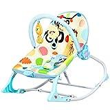 GOPLUS 3 in 1 Multifunktionale Babywippe mit 3-stuffiger Einstellung, Babywiege mit Spielsachen & Vibration & Melodien, abnehmbarem Spielbogen und Sitzbezug, Belastbar bis 18 kg (Blau)