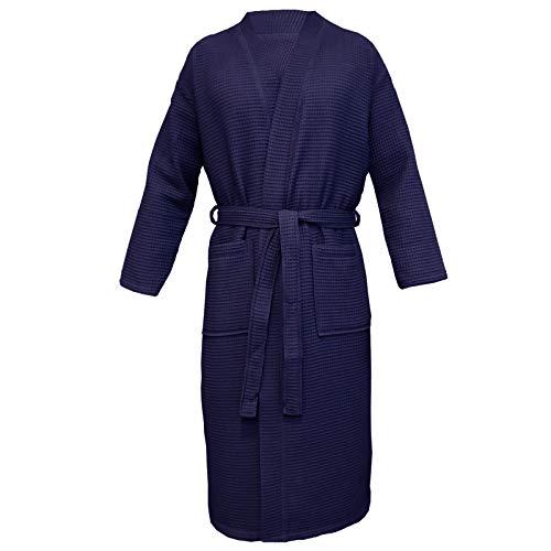 Homelevel Pique badjas reisbadjas 100% katoen S - 6 XL dames en heren grote maten ochtendjas kimono saunamantel reis ochtendrok piquee wafelpique vrouwen mannen