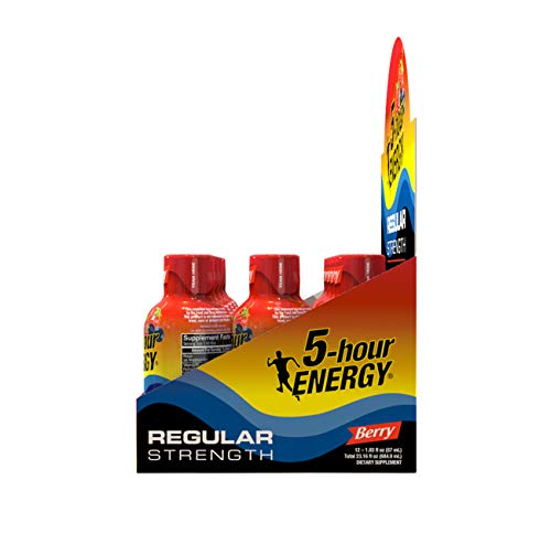 5-hour ENERGY Shot, Regular Strength, Berry 1.93 Ounce, 12 Count