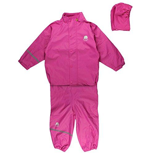 CeLaVi Baby - Mädchen CeLaVi zweiteiliger Regenanzug in vielen Farben Regenjacke,,per pack Rosa (Real pink 546),(Herstellergröße:80)