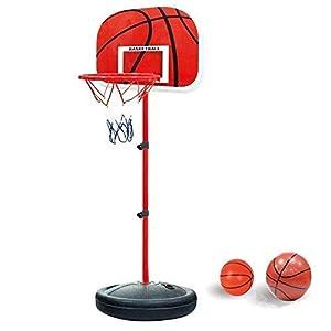 YunNasi Estable y Altura Regulable Canasta de Baloncesto con Pelota y Bomba para niños y jóvenes (150cm)