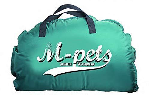 M-PETS Bilbao - Cama portátil Suave con Revestimiento de Piel Suave, Color Turquesa con Logotipo, 60 x 40 cm