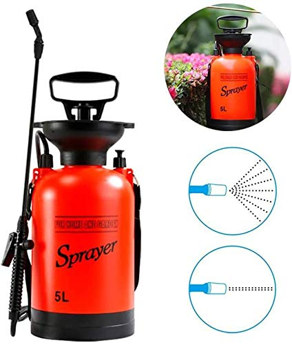 HYNB 5l Garden Pressure Sprayer, Pressure Sprayer Pressure Sprayer Spray Bottle Gieter met schouderriem voor gazon en tuin Insecten en onkruidherbiciden, kunstmest, moordenaar, wassen