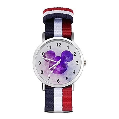 Reloj de ocio para adultos con trenza a escala ajustable elegante espejo de cristal 1.6 pulgadas hombres mujeres pulsera temperamento
