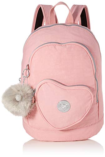 Kipling HEART BACKPACK - Mochila escolar, 9 liters, Rosa (BRIDAL ROSE)