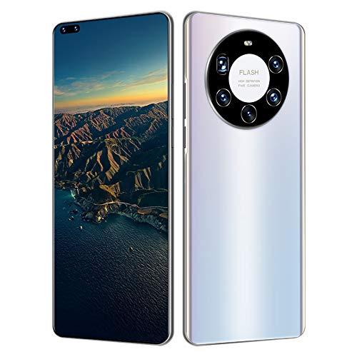 XIAOQIAO Smartphone Mate40 Plus + Teléfono Móvil con Pantalla Grande, Sistema Android 10.0, Combinación de Cámaras HD Reales, Procesador Fuerte Deca Core