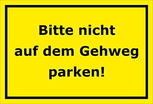 Melis Folienwerkstatt sticker schild - niet op trottoir parkeren - S00065-101-C