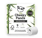 The Cheeky Panda - Papel Higiénico de Bambú, Paquete de 9 Rollos, 3 Capas, Sin Plástico, Súper Suave, Duradero y Sostenible, PFTOILT9
