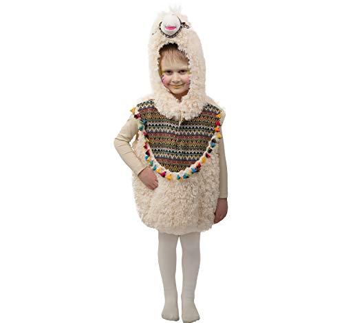 Orlob Disfraz Infantil de Carnaval de Llamas, Suave y tierno, (Chaleco con Capucha) Talla 104 (4-5 aos)