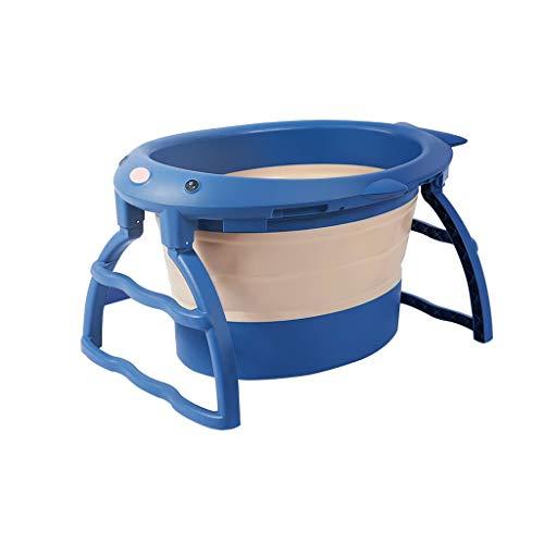 Asiento De Baño Soporte De Baño Cruciforme Accesorios De Baño Antideslizantes Para Bebés Oniños Bañeras Plegables (Azul)