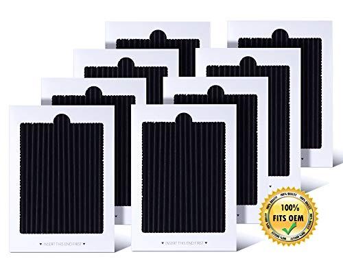 eKoi Refrigerator Fridge Carbon Activated Air Filter Replacement Compatible Frigidaire Gallery PAULTRA SCPUREAIR2PK EAFCBF Pure Air Ultra Part 242047801 242047804 (8 Pack Cartridge)