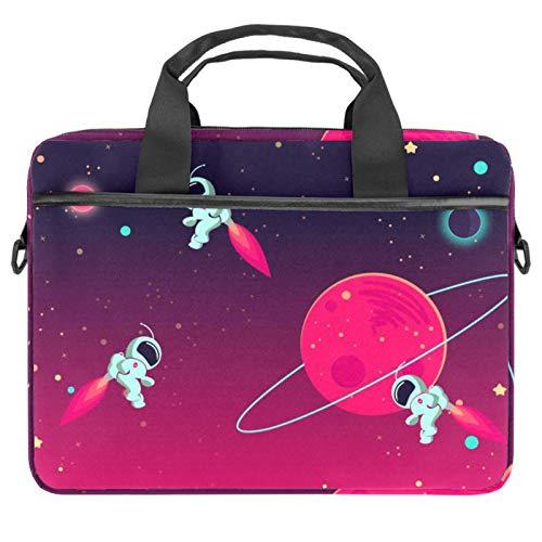 Leichte 15 Zoll Laptoptasche Business Messenger Aktentaschen Wasserdicht Computer Tablet Schultertasche Tragetasche Handtasche für Damen und Herren Universum Saturn Planet