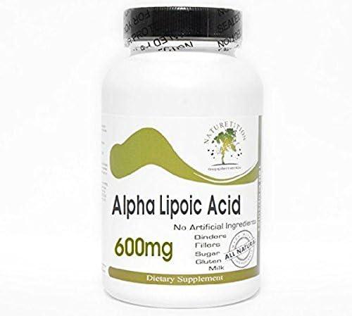 Alpha Lipoic Acid Louisville-Jefferson County Mall 600mg ~ 90 Capsules Naturetit Indianapolis Mall Additives No -