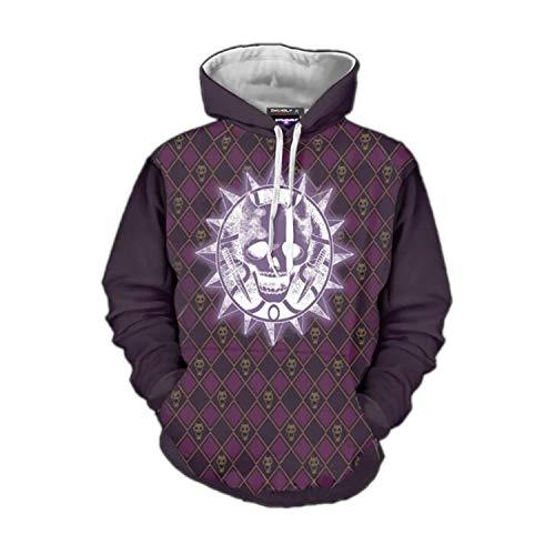 Sunkee JoJo's Bizarre Adventure Cosplay Cooles 3D Gedruckt Kapuzenpullover Sweatshirt Pullover Oberteile