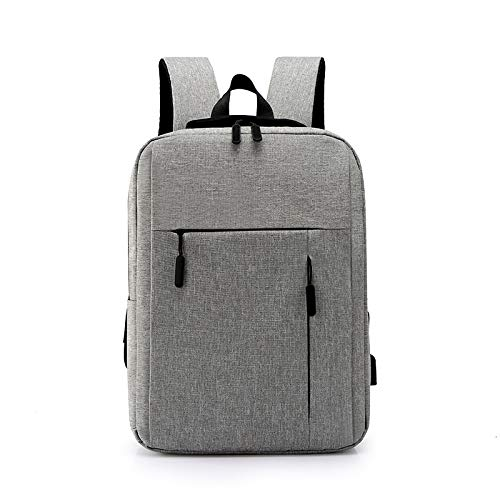 Laptop Backpack, 16.1 Inch Waterproof Fashion Backpack, External USB Charging, Casual Business Unisex Backpack, Student Schoolbag (Grey)