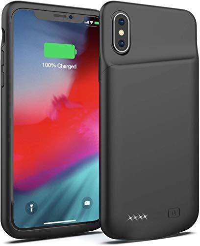Akku Hülle für iPhone X/XS/10 4000mAh Große Kapazität Battery Case Tragbare Ladehülle Zusatzakku für iPhone X/XS/10, Wiederaufladbare Schutzhülle Power Bank Akku Case [5,8 Zoll]