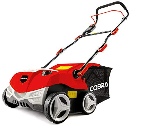 Cobra S3840V 38cm (15in) Cordless Battery Scarifier & Aerator, ideal for clearing lawn debris and improving its health, 40v 5Ah battery and charger included