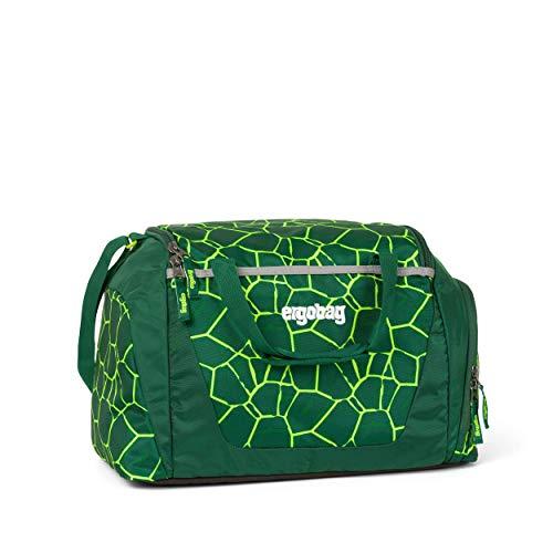 ergobag Sporttasche BärRex, wasserdichtes Seitenfach, Tragegriffe und Umhängegurt, 20 Liter, 500 g, Lava Grün
