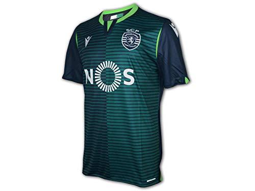 Macron Sporting Lisboa Segunda Equipación 2019-2020, Camiseta, Anthracite, Talla M