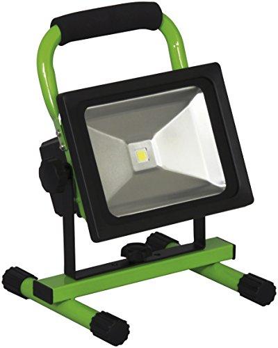 Smartwares 10.030.53 draagbare LED-spot, 20W, 1500 lumen met accu, staal, 20 W, groen, 29 x 20,6 x 18,5 cm