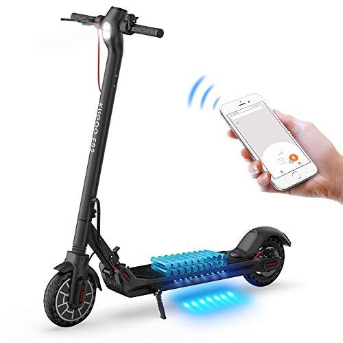 Monopattino Elettrico Pieghevole per Adulti, KUGOO ES2 E-Scooter Portatile 350W Motore, Autonomia 25 Km, Controllo App,8.5 Pneumatici Ammortizzati,Fanali a LED, Freno Doppio Sistema