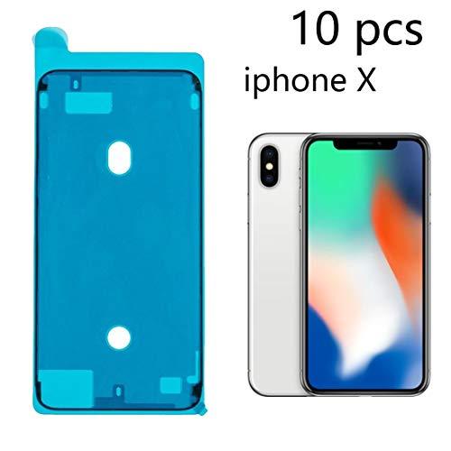 NoyoKere 10PCS Pegamento Impermeable para iPhone 6S 6SP 7 8 Plus X XS XR MAX Pegatina Resistente al Agua, Carcasa Frontal LCD Pantalla táctil Pantalla Marco Cinta