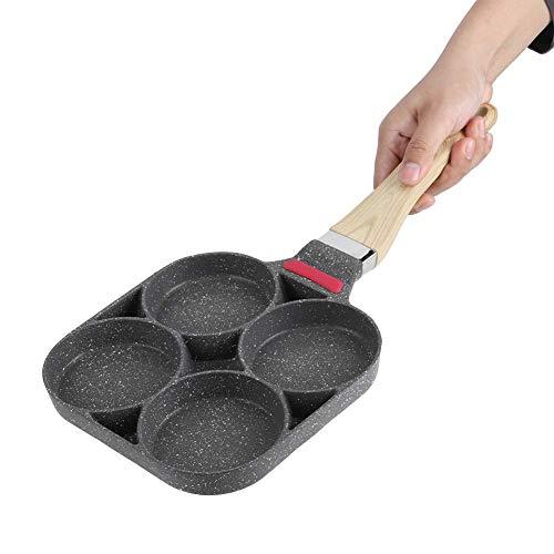 Padella Antiaderente Padella Pancake Padelle Universali Padelle per Crepes con Quattro Fori per Uova Padelle in Alluminio per Frittata Burger