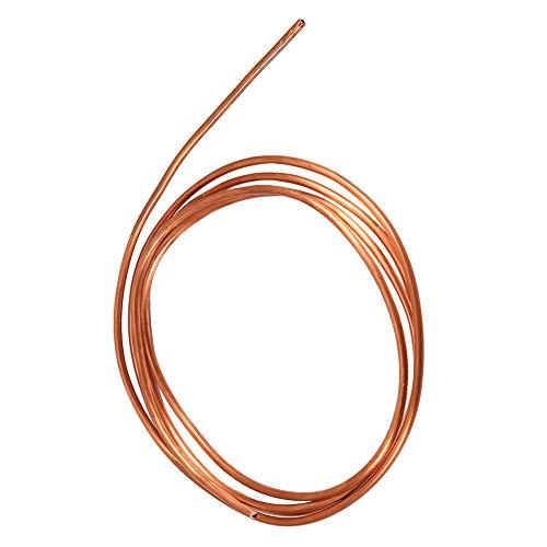 Tubo de cobre Tubo redondo suave de la bobina de la tubería 2m ID 3m m OD 4m m grueso 0.5m m para la fontanería de la refrigeración
