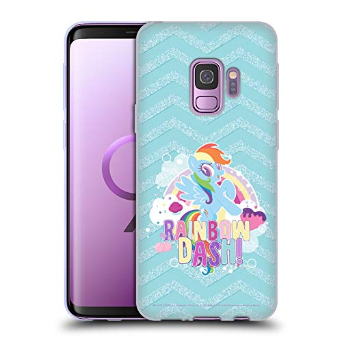 Head Case Designs Officially Licensed My Little Pony Rainbow Dash Sugar Crush Soft Gel Case Compatible with Samsung Galaxy S9